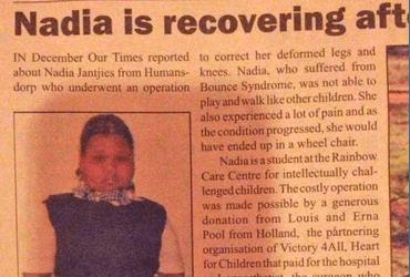 Hart voor Kinderen haalt Zuid-Afrikaanse krant