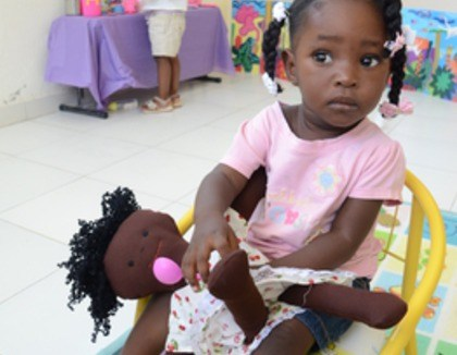 Meisje uit Haiti