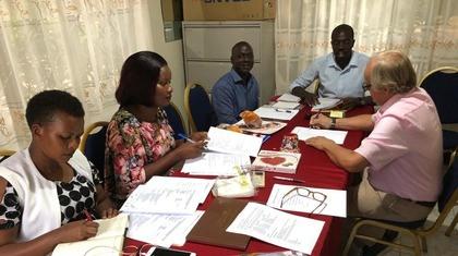 Boardmeeting in Oeganda