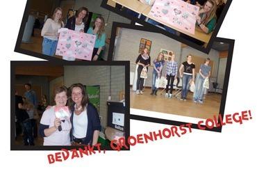 Groenhorst College Nijkerk haalt geld op voor Hart voor Kinderen
