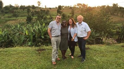 Bij Cor en Grace Koelewijn in Tororo