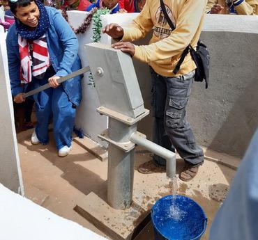 Waterpomp aangelegd
