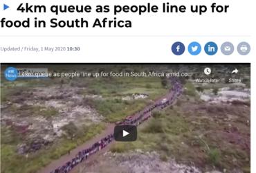Persbericht uit Zuid Afrika Honger tijdens Corona