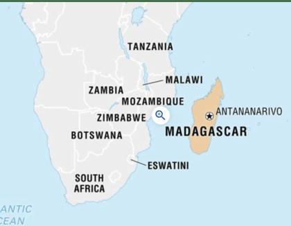 Ligging Madagaskar